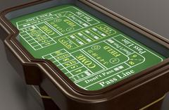 gambling, craps game - stock illustration