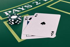 Stock Illustration of gambling, blackjack game