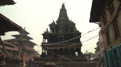 Nepal 1 Year After the Earthquake. Beauty of Patan Durbar Square 4K Stock Footage