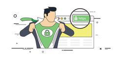 Super SSL certificate - stock illustration