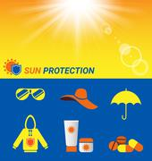 Item for Sun protection and sun shine Piirros
