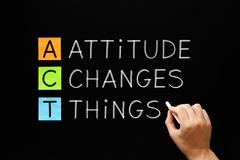 Attitude Changes Things Stock Photos