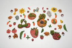 Handicrafts depicting summer pests Stock Photos