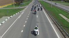 Motorcycle Season opening parade with thousands of bikers on the road. Stock Footage