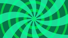 Radial green background with circles and lines Stock Footage