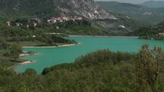 Lake Castel San Vincenzo, Isernia Stock Footage