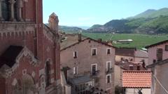 Rivisondoli small town of Abruzzo Stock Footage