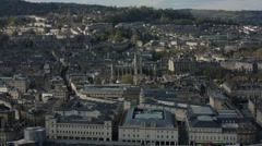 City of Bath birds eye view, England, Europe Stock Footage