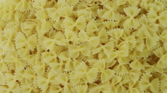 A pile of bows pasta Rotating Stock Footage