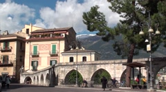 Sulmona, an ancient city of Abruzzo Stock Footage