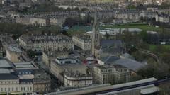 Bath rugby club: birds eye view Stock Footage