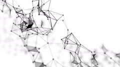 Plexus and triangles fantasy abstract technology and engineering background - stock footage