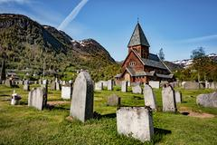 Roldal Stave Church, Norway Stock Photos