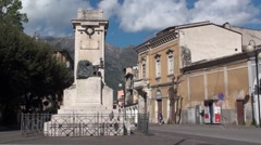 The historical center of Sulmona, city of Abruzzo Stock Footage