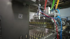 Machine for the production of fruit ice slide Stock Footage