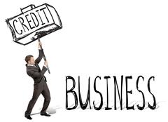 Credit hit business - stock photo