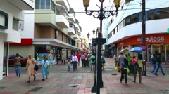 SANTO DOMINGO, DOMENICAN REPUBLIC FEBRUARY 04 lots of people walking on the s Stock Footage