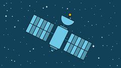 Modern Cosmos Satellite Stock Illustration