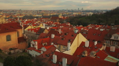 Panning Shot of the Old Town in Prague, Czech Republic (Czechia) Stock Footage
