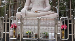 Buddha statue in temple Thailand Stock Footage