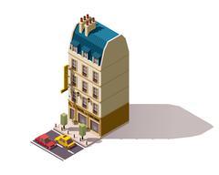 Vector isometric Paris building Stock Illustration
