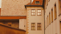 Detail of a Tower in Castle in Prague, Czech Republic (Czechia) - stock footage