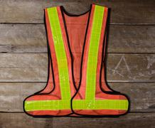 reflective safety vest Standard safety equipment - stock photo