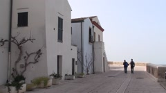 Old town of Termoli, Campobasso Stock Footage