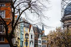 Beautiful street view of Traditional old buildings in Aachen, Germany - stock photo