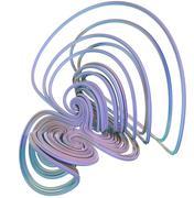 3D illustration of abstract figures - stock illustration
