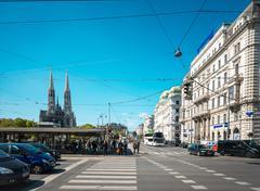 VIENNA, AUSTRIA- April 19 : Viennese Classical style building on April 19, 20 - stock photo
