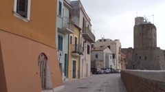 Castle of Termoli, the city of Molise Stock Footage