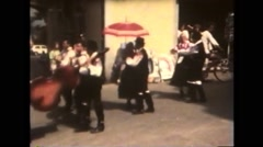 Italy 1990: Folklore Festival - Hungary Stock Footage