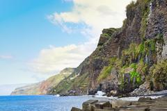 Coastal lanscape in Madeira island, Portugal Stock Photos