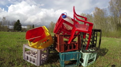 Plastic rubbish heap, time lapse 4K Stock Footage