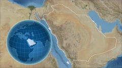 Saudi Arabia and Globe. Satellite - stock footage