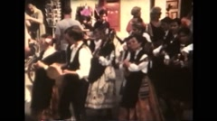 Italy 1990: Folklore Festival - Spain Stock Footage