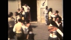 Italy 1990: Folklore Festival - Spaniard Dancers Stock Footage