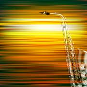 Abstract grunge piano background with saxophone Stock Illustration