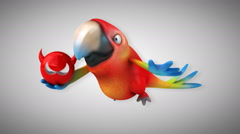 Computer animation - Fun parrot Stock Footage