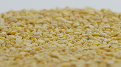 A pile of yellow peas Rotating Stock Footage