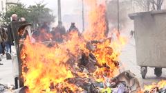 Waste burning Stock Footage