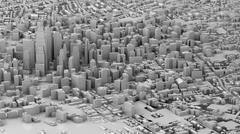 3D illustration of futuristic modern city Piirros