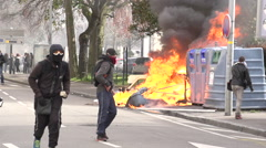 Urban riot Stock Footage