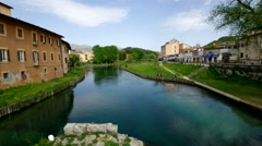 the Velino river in Rieti, Italy - stock footage