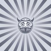 Evil buddha warrior Stock Illustration