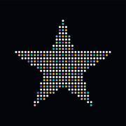 Colorful dot theme art star Stock Illustration