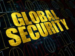 Security concept: Global Security on Digital background Stock Illustration