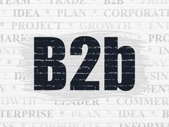 Finance concept: B2b on wall background Stock Illustration