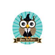 owl art theme - stock illustration